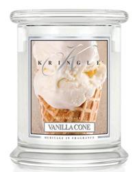 Kringle Candle Medium 2 Wick Classic Vanilla Cone - Słoik świeca średnia z dwoma knotami 411g