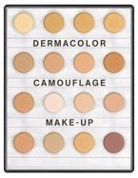 Kryolan Dermacolor Camouflage Mini Palette FAIR - Mini paleta 16 korektorów do twarzy