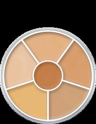 Kryolan Dermacolor Camouflage Rainbow Set Paleta 6 korektorów do kamuflażu Nr 3, 40 g