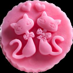 LaQ Mydło glicerynowe Dwa kotki różowe 60g