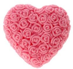 LaQ Mydło glicerynowe Wielkie serce-różowy