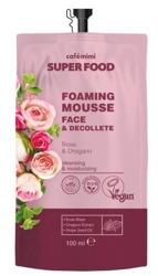 Le Cafe Mimi Super Food Pieniący się kremowy mus do twarzy i dekoltu Róża&Oregano 100ml