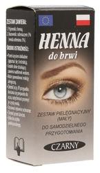Loko-kolor Henna do brwi w proszku + Woda utleniona Czarna