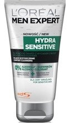 Loreal Men Expert Hydra Sensitive Żel myjący do twarzy z wyciągiem z brzozy 150ml