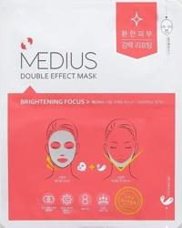 MEDIUS DOUBLE EFFECT MASK Brightening Maska do twarzy w płachcie 25ml