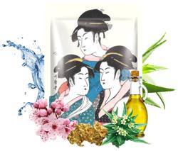 MITOMO maska UKIYO-E Złoto+Kwiat Wiśni 25g