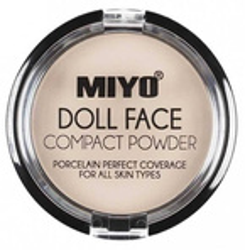 MIYO DOLL FACE COMPACT POWDER puder matujący NO. 02 Cream