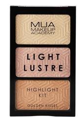 MUA Light Lustre Highlight Kit Paletka rozświetlaczy Golden Kisses