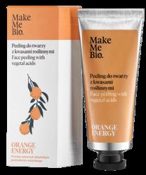 Make Me Bio Orange Energy peeling do twarzy z kwasami roślinnymi 40ml