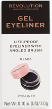 Makeup Revolution Gel Eyeliner Black with Brush Żelowy eyeliner z pędzelkiem 3g