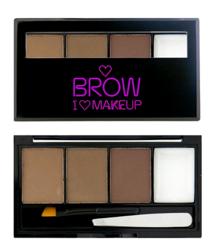 Makeup Revolution I heart  Makeup - Brow Kit I woke up this groomed - Zestaw do brwi