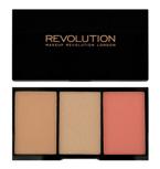 Makeup Revolution Iconic Pro Blush, Bronze & Brighten Palette - Paleta do konturowania twarzy Rave