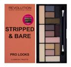Makeup Revolution Pro Looks Palette - Paleta 15 cieni do powiek Stripped & Bare