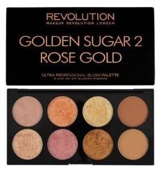 Makeup Revolution Ultra Blush Palette - Paleta róży do policzków Golden Sugar 2 Rose Gold 13 g