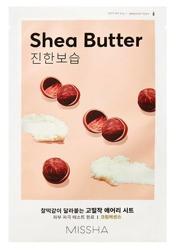 Missha AIRY Fit Sheet Mask Shea Butter Nawilżająco-odżywcza maska w płachcie Masło Shea 19g