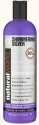 Natural World Shimmering Silver Shampoo Szampon do włosów blond i siwych 450ml