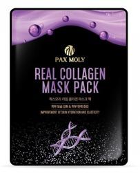 PAX MOLY Real Collagen Mask Pack Odżywczo-ujędrniająca maska w płachcie z kolagenem i komórkami macierzystymi żeń-szenia 25ml