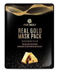 PAX MOLY Real Gold Mask Pack Nawilżająco-ujędrniająca maska w płachcie ze złotymi ekstraktami i mleczkiem pszczelim 25ml