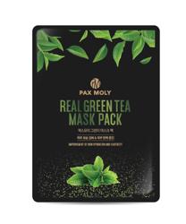 PAX MOLY Real Green Tea Mask Pack Łagodząca maska w płachcie 25ml