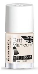 Rimmel Brit Manicure nail colour Lakier do paznokci 433 ivory tower