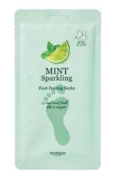 SKINFOOD Mint Sparkling foot peeling socks Peelingujące skarpetki do stóp 2x20g