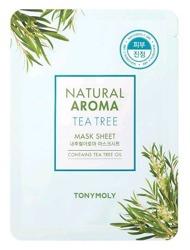 TonyMoly Natural Aroma TEA TREE maska w płachcie