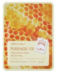TonyMoly Pureness 100 Propolis Mask SKIN SOOTHING maska w płachcie