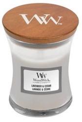 WoodWick świeca mała Lavender&Cedar 85g