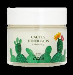 YADAH Cactus Toner Pads Płatki Złuszczające z Ekstraktem z Kaktusa 60szt