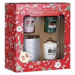 Yankee Candle Countdown To Christmas Zestaw prezentowy świecznik + 3x świeca votive