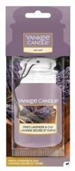 Yankee Candle car jar Odświeżacz samochodowy Zawieszka Dried Lavender&Oak 1szt.