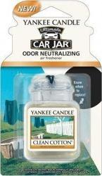 Yankee Candle car jar Ultimate Odświeżacz samochodowy Zawieszka słoik Clean Cotton 1szt.
