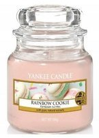 Yankee Candle słoik mały Rainbow Cookie 104g