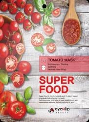 eyeNlip Beauty SuperFood Tomato Maska w płachcie o działaniu rozjaśniający, chłodzącym i przywracającym witalność 23ml