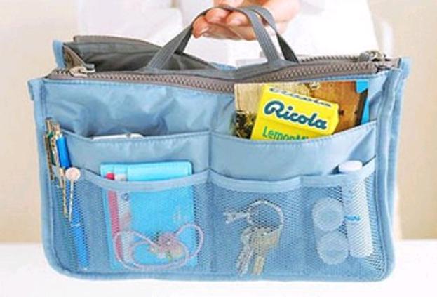 Kosmetyczka Niebieska organizer do torebki