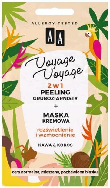 AA Voyage Voyage 2w1 peeling gruboziarnisty +maska kremowa Kawa&Kokos 2x 5ml