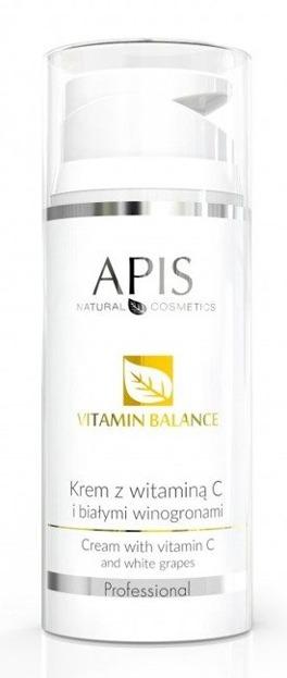 APIS Professional Krem do twarzy z witaminą C i białym winogronem 100ml