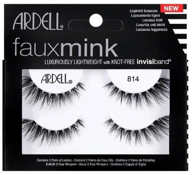 ARDELL FauxMink twin pack 814 Sztuczne rzęsy na pasku Czarne 2 pary
