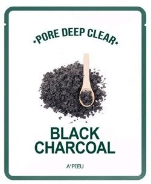 A'pieu Pore Deep Clear Black Charcoal maska węglowa w płachcie