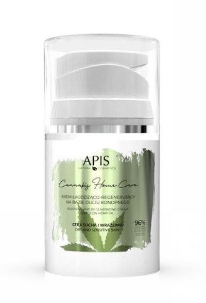 Apis Cannabis Home Care Łagodząco-regenerujący krem do twarzy na bazie oleju konopnego 50ml