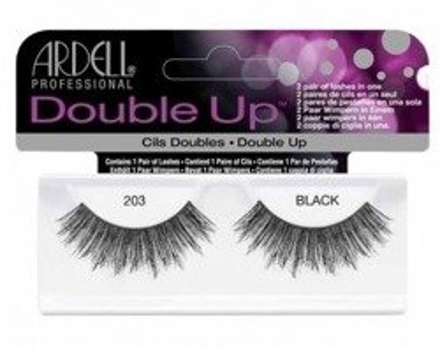 Ardell Double Up Double 203 Black Sztuczne rzęsy czarne 1 para