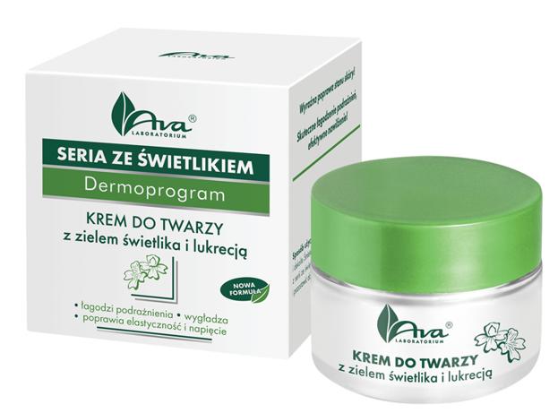 Ava Seria ze świetlikiem Krem do twarzy z zielem świetlika i lukrecją 50ml