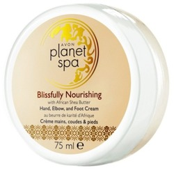 Avon Planet Spa Shea Butter Odżywczy krem do rąk i stóp 75ml