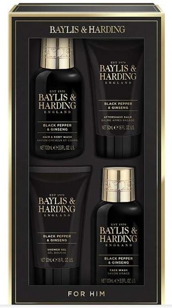 Baylis&Harding Zestaw męski Czarny Pieprz+Żeń szeń Mydło do mycia rąk + Lotion do rąk