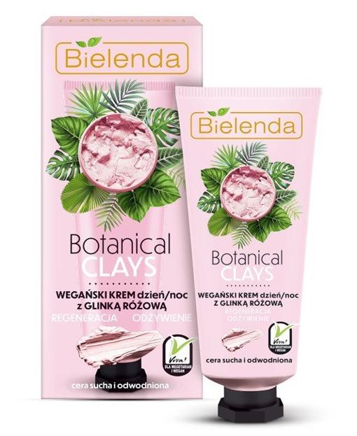 Bielenda Botanical Clays krem do twarzy z glinką różową 50ml