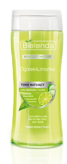 Bielenda Ogórek&Limonka Tonik matujący przeciw błyszczeniu 200ml
