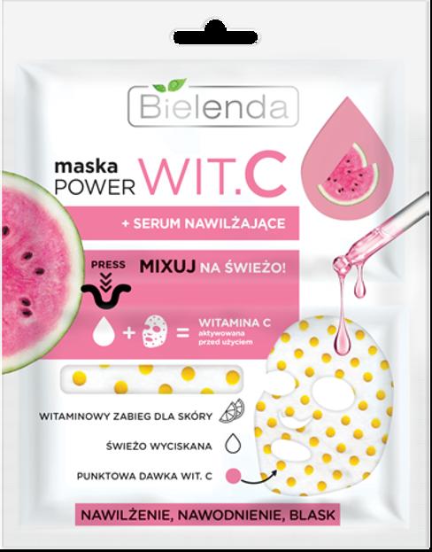Bielenda POWER Wit.C Maska + Serum nawilżające 22ml