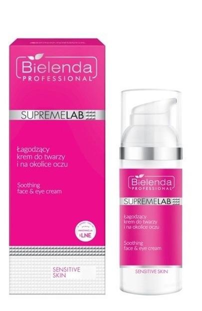Bielenda Professional SupremeLab Sensitive Skin Łagodzący Krem do Twarzy i na Okolice Oczu 50ml