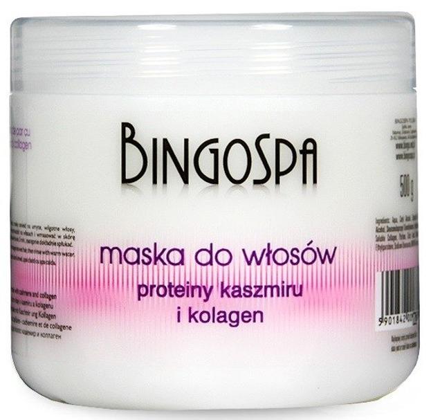 BingoSpa Maska do włosów Proteiny kaszmiru i kolagen 500g