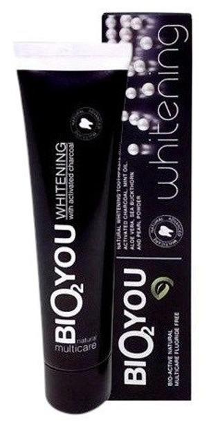 Bio2You Pasta do zębów czarna wybielająca 100ml